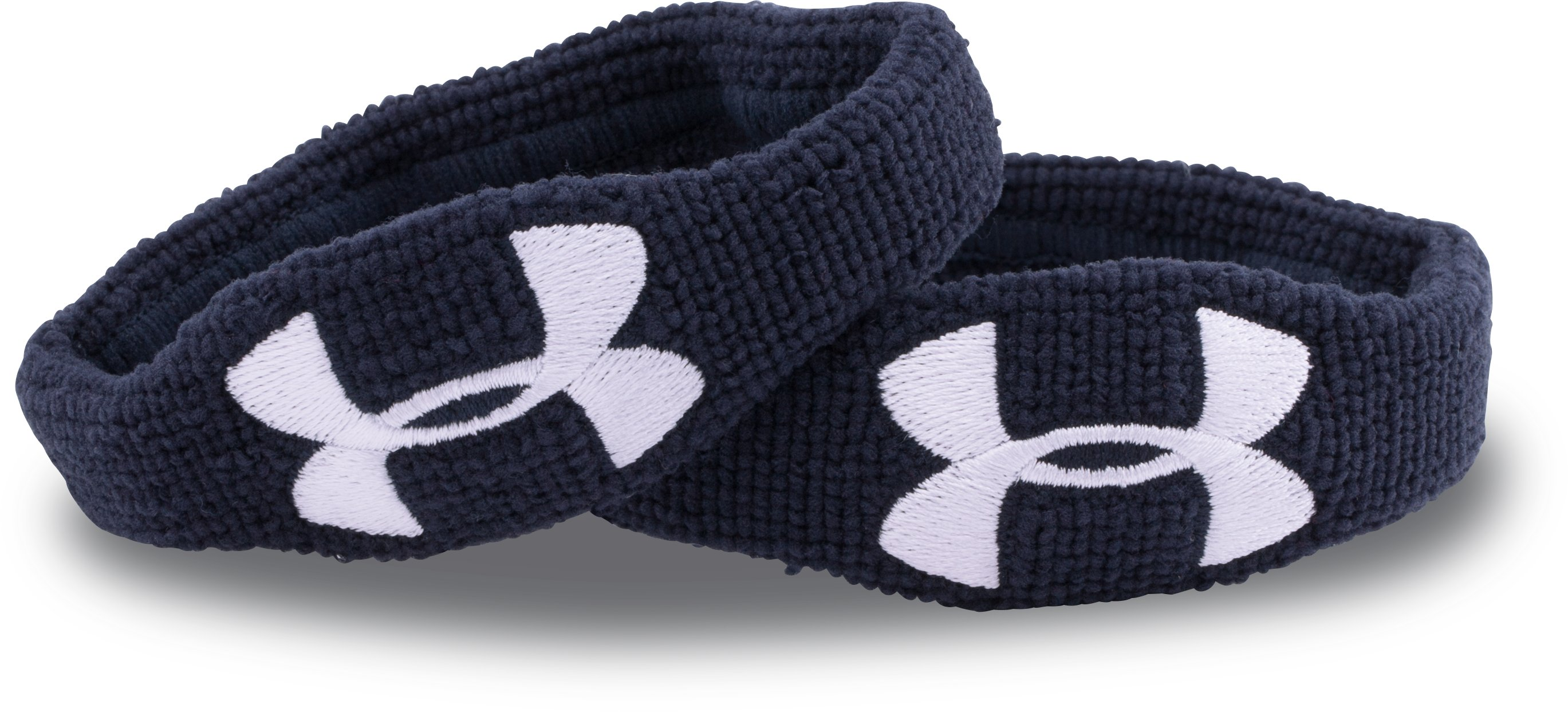 "UA 1/2"" Performance Wristband – 2-Pack, Midnight Navy, undefined"