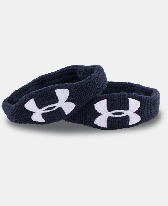"UA ½"" Oversized Performance Wristband 2-Pack  2 Colors $5.99"