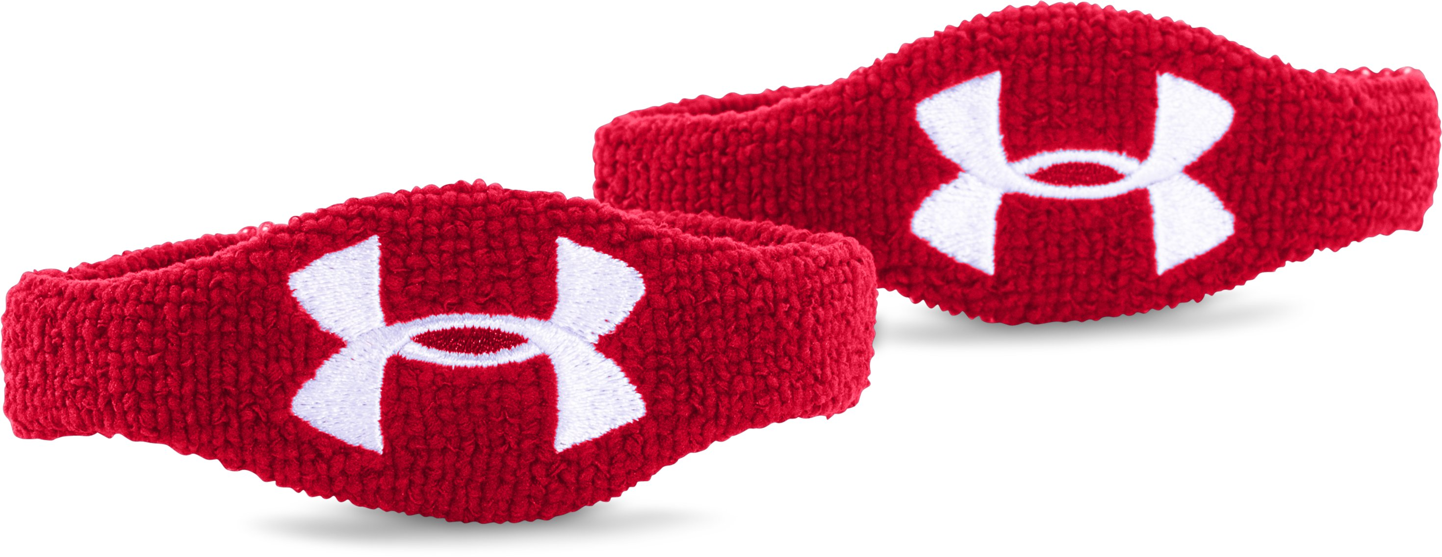 "UA 1/2"" Performance Wristband – 2-Pack, Red,"