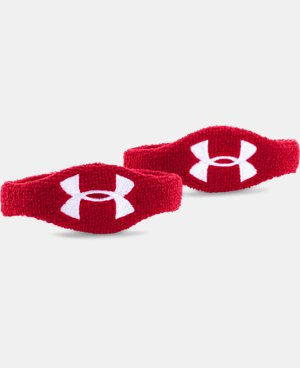 "UA 1/2"" Oversized Performance Wristband 2-Pack  4 Colors $6.99"