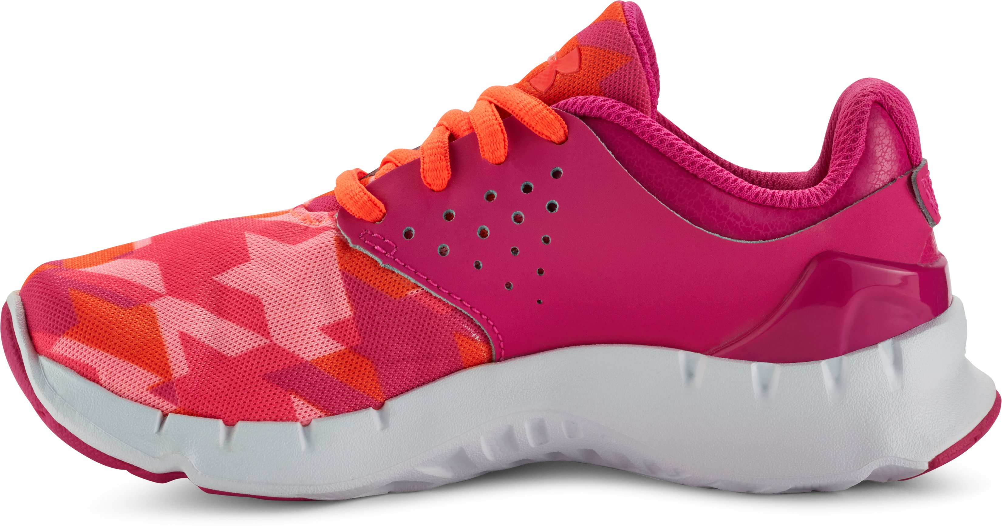 Girls' Pre-School UA Flow Running Shoes, REBEL PINK