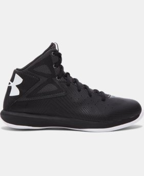 New Arrival  Boys' Grade School UA Rocket Basketball Shoes  1 Color $79.99