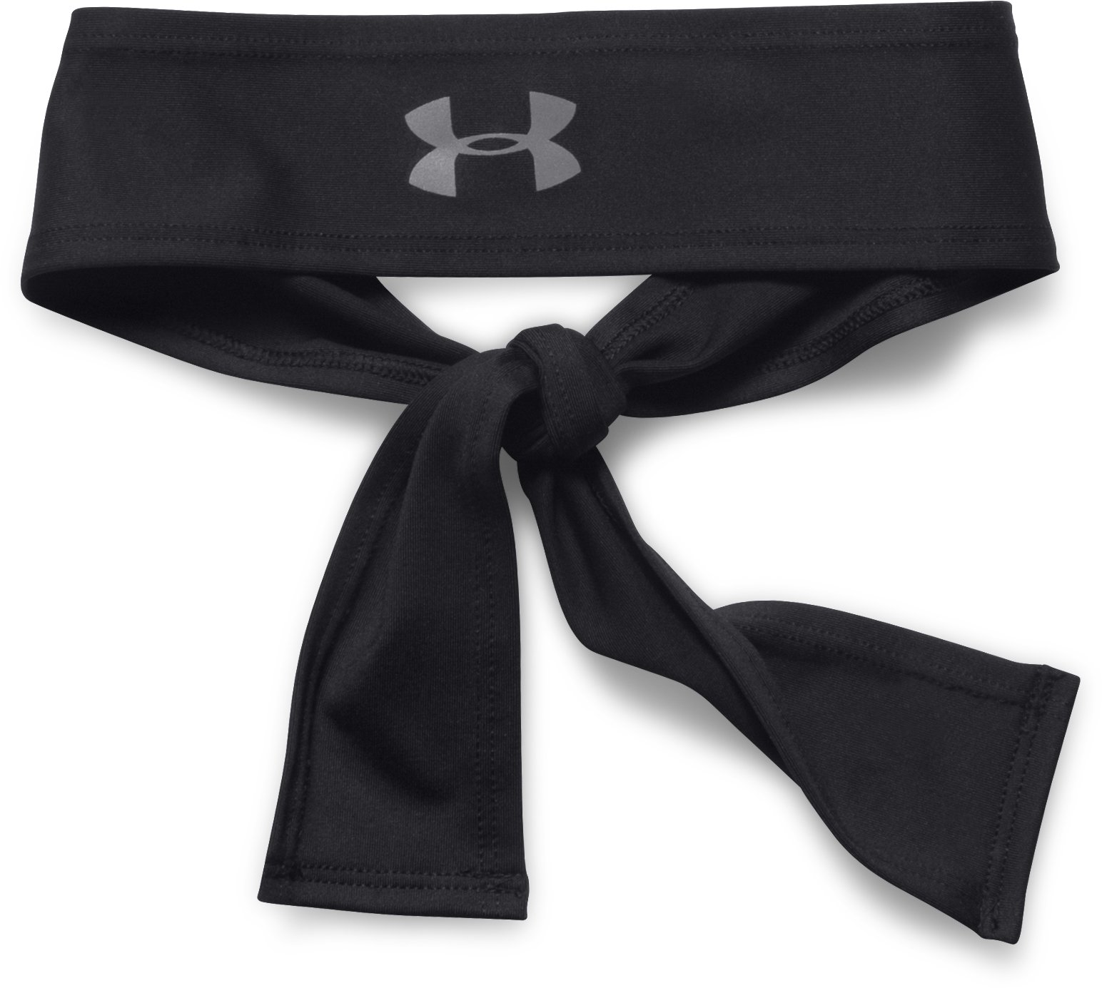 Women's UA Armour Tie Headband, Black , zoomed image