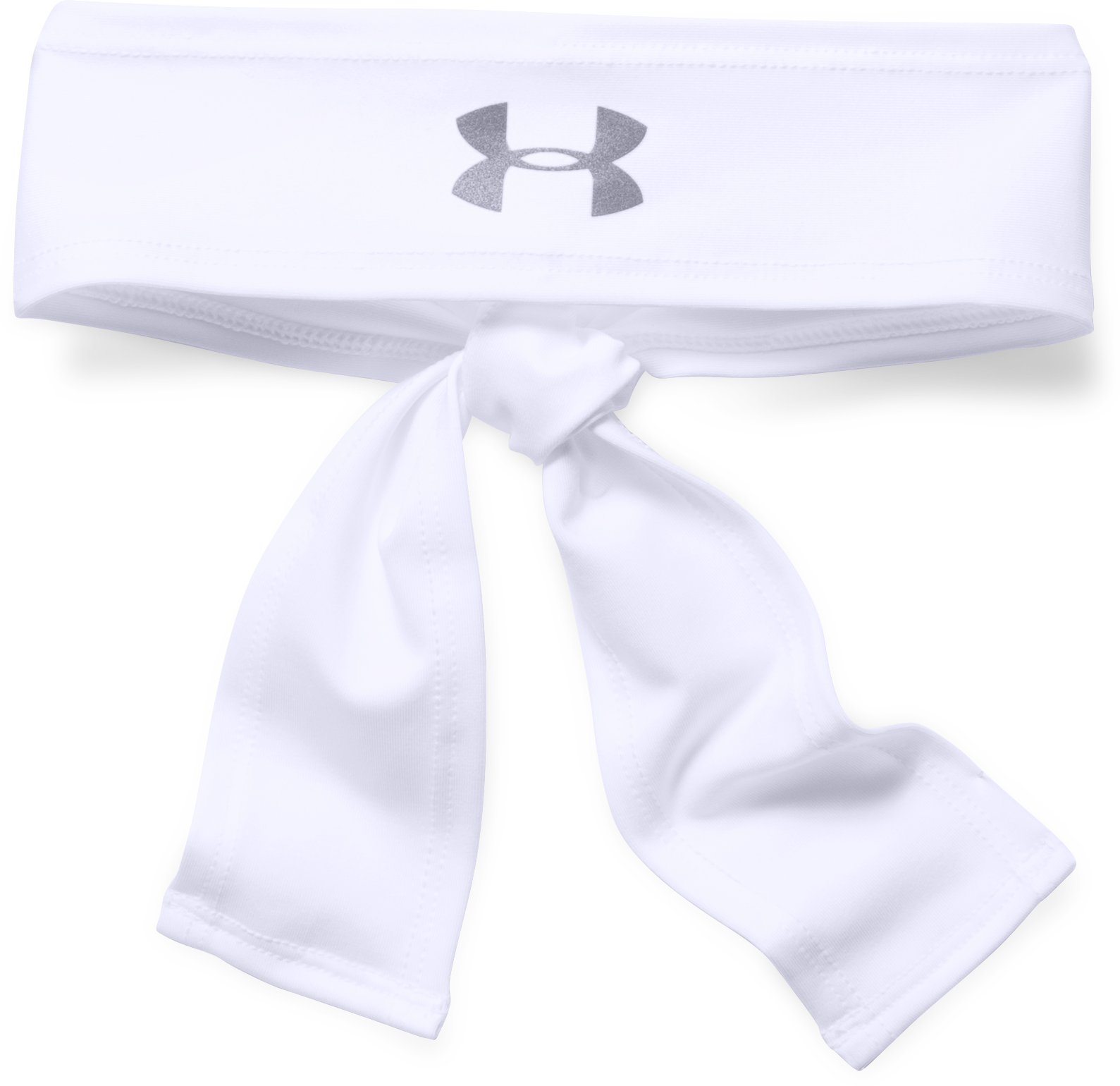 Women's UA Armour Tie Headband, White, undefined