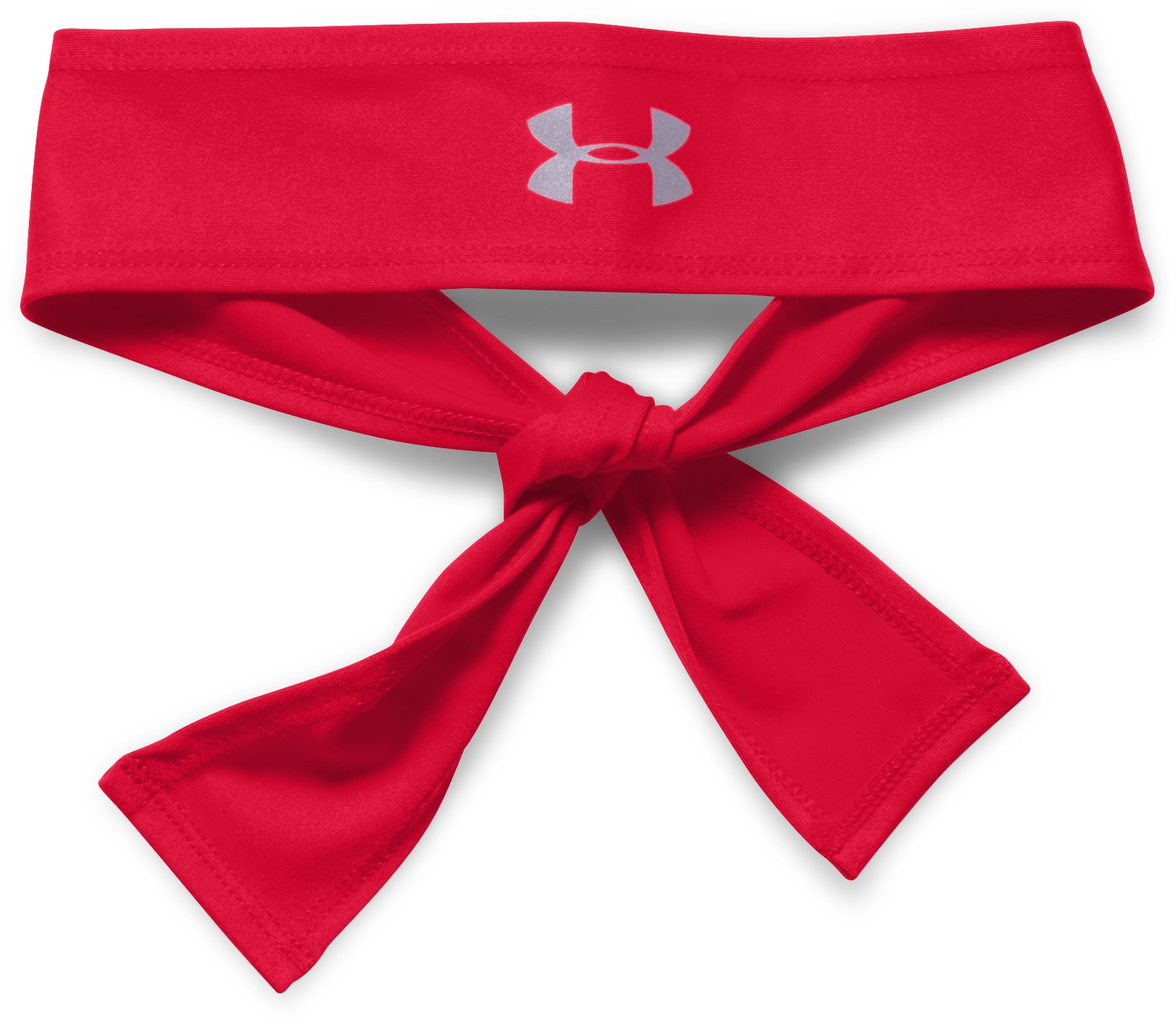 Women's UA Armour Tie Headband, Red, zoomed image