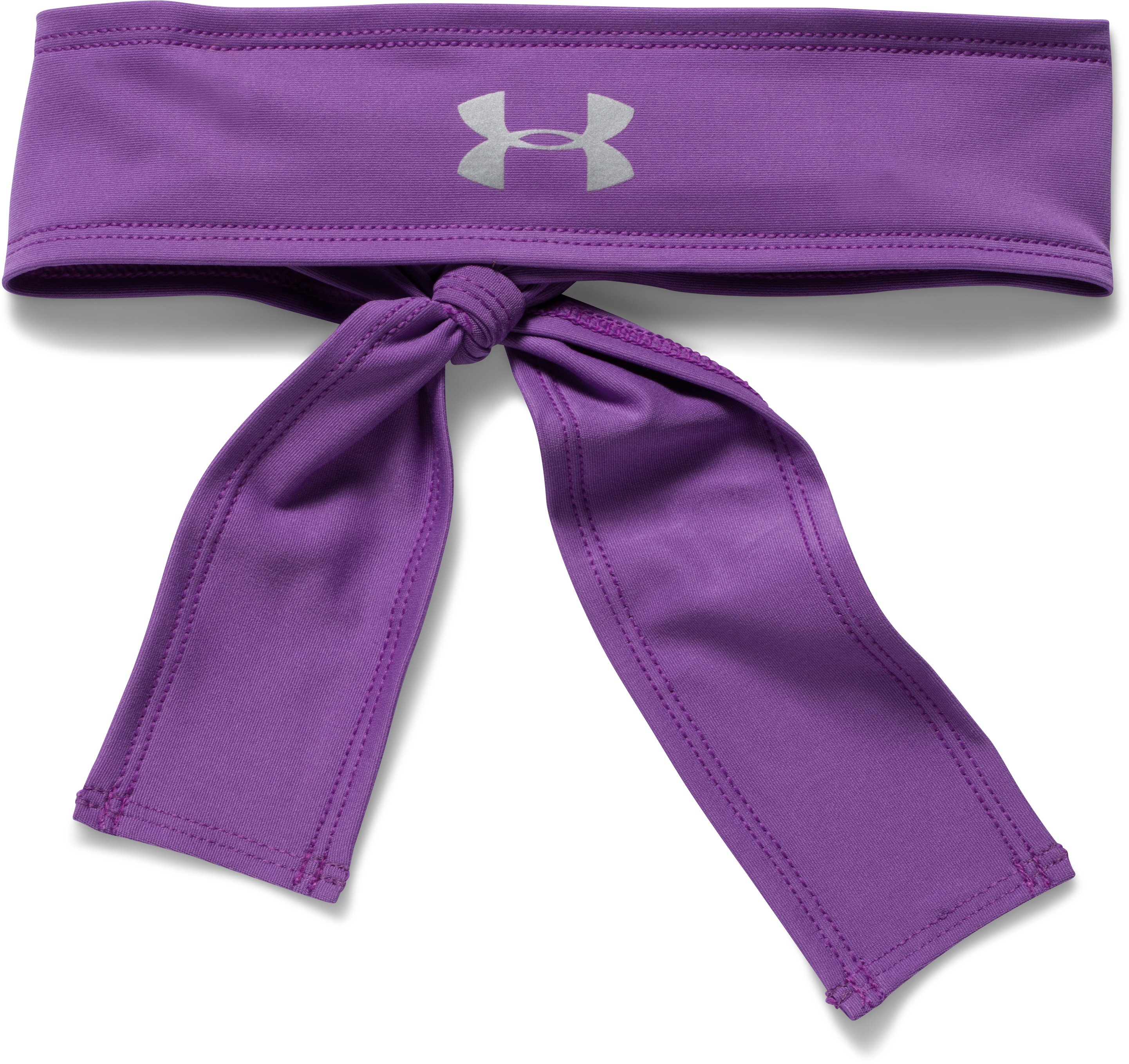 Women's UA Armour Tie Headband, MEGA MAGENTA