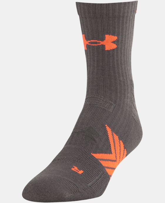New Arrival Men's UA Undeniable Mid Crew Socks LIMITED TIME: FREE U.S. SHIPPING 4 Colors $12.99