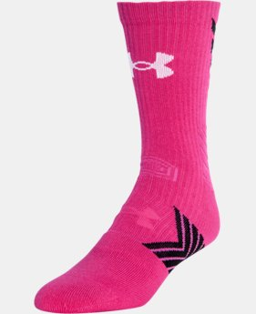 New Arrival Men's UA Undeniable Mid Crew Socks  1 Color $9.99 to $12.99