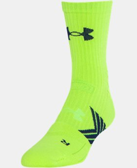 New Arrival Men's UA Undeniable Mid Crew Socks  1 Color $12.99