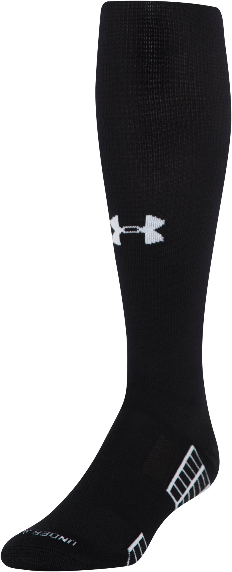 Men's UA Striker Soccer Over-The-Calf Socks, Black , zoomed image