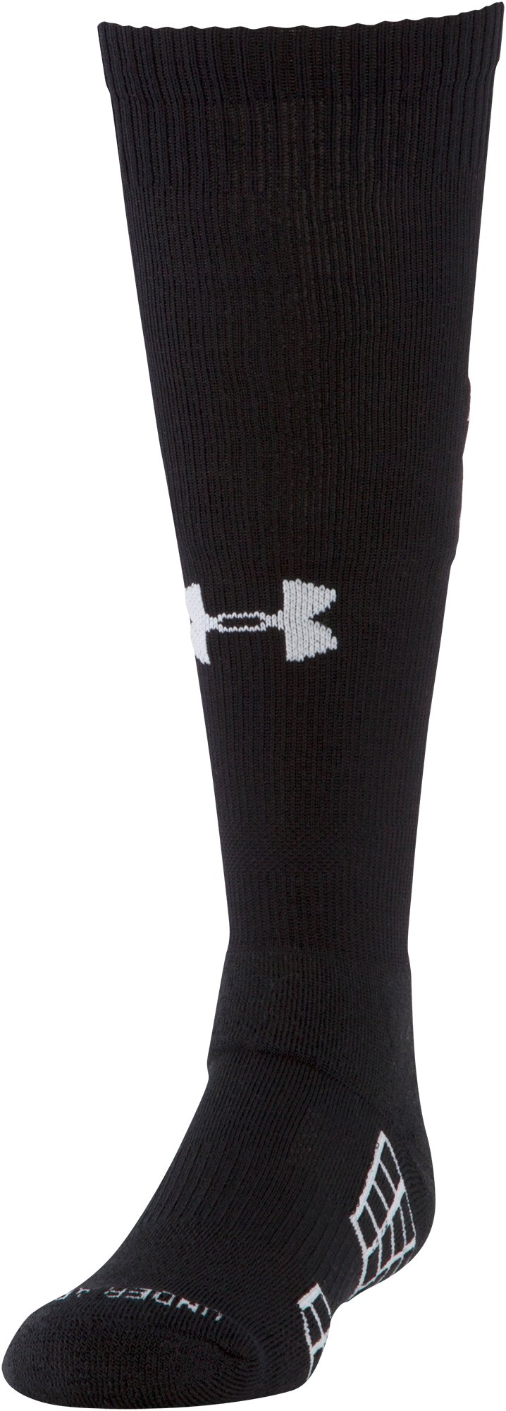Boys' UA Striker Soccer Over-The-Calf Socks, Black , zoomed image