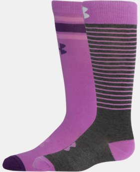 2-Pack Girls' UA Retro Over The Calf Socks 2-Pack   $14.99