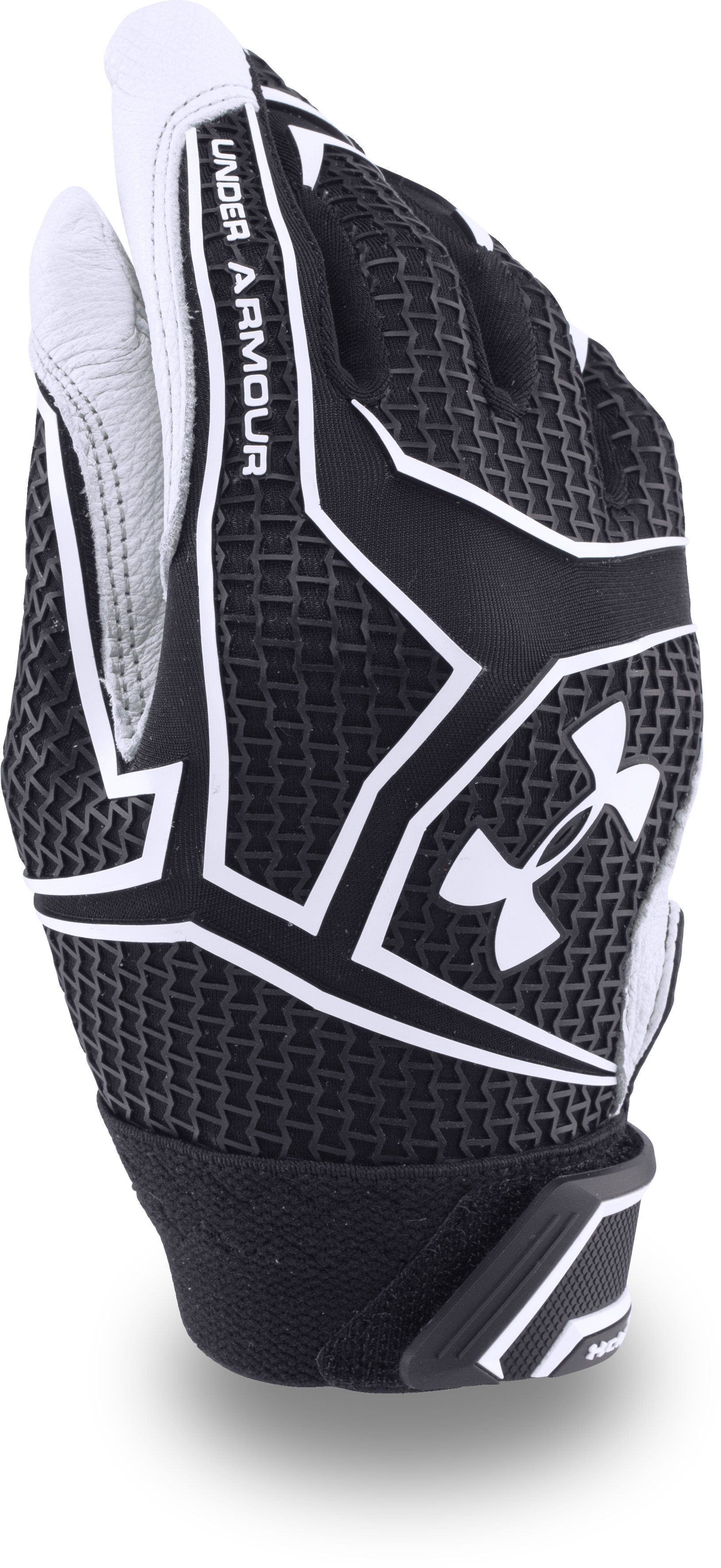 Boys' UA ClutchFit™ Batting Gloves, Black ,