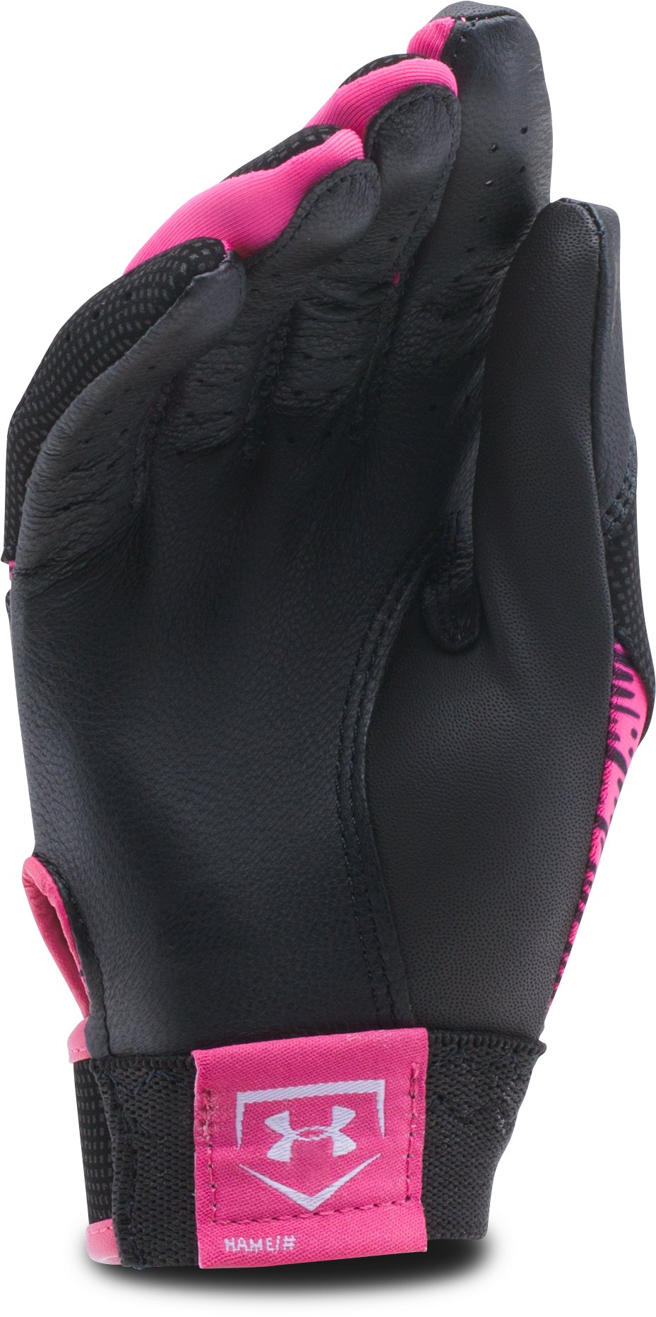 Women's UA Radar III Softball Batting Gloves, Tropic Pink,