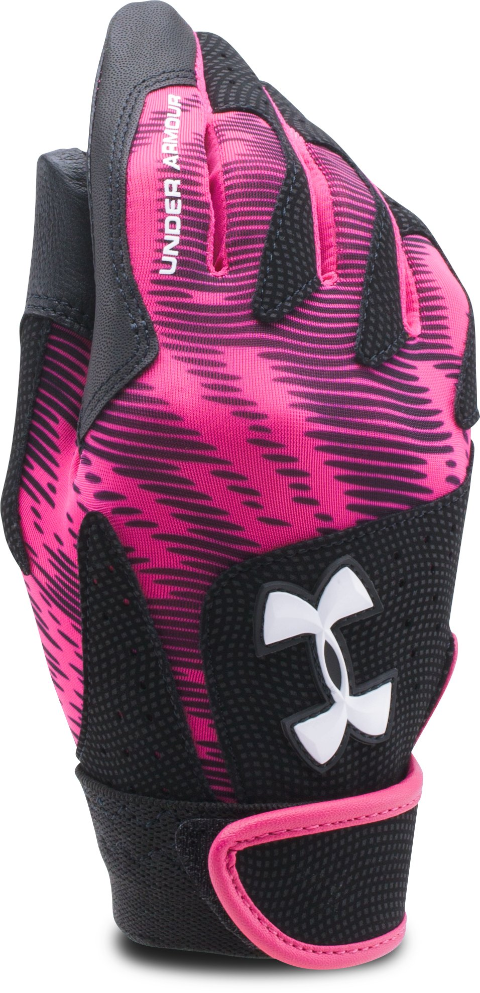 Women's UA Radar III Softball Batting Gloves, Tropic Pink