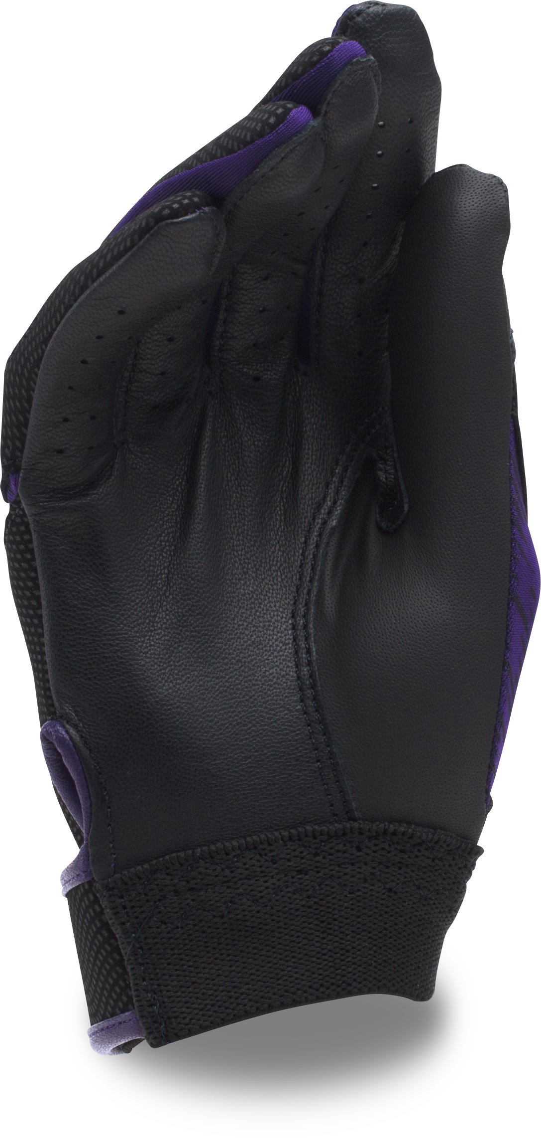 Girls' UA Radar III Fastpitch Batting Gloves, Purple,