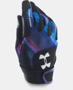 Girls' UA Radar III Fastpitch Batting Gloves   $14.99