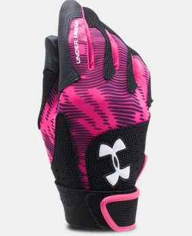 Girls' UA Radar III Fastpitch Batting Gloves   $19.99