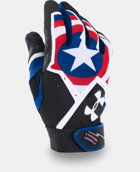 Men's Under Armour® Alter Ego Captain America Clean-Up Batting Gloves