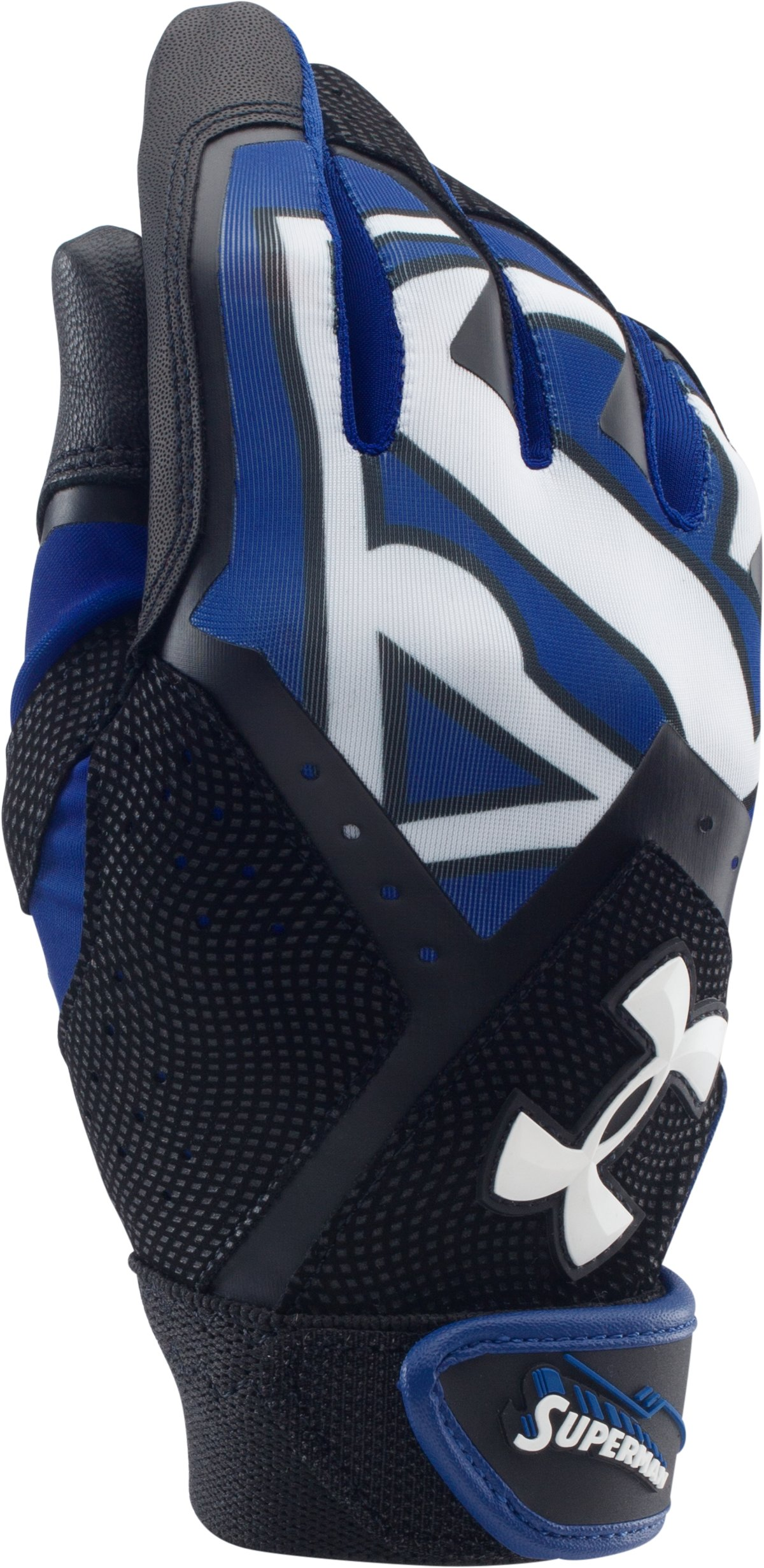 Boys' Under Armour® Alter Ego Superman Clean-Up Batting Gloves, Royal, undefined
