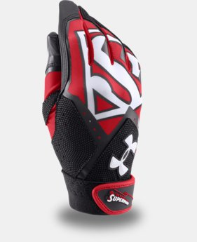 Boys' Under Armour® Alter Ego Superman Clean-Up Batting Gloves LIMITED TIME: FREE SHIPPING  $26.99