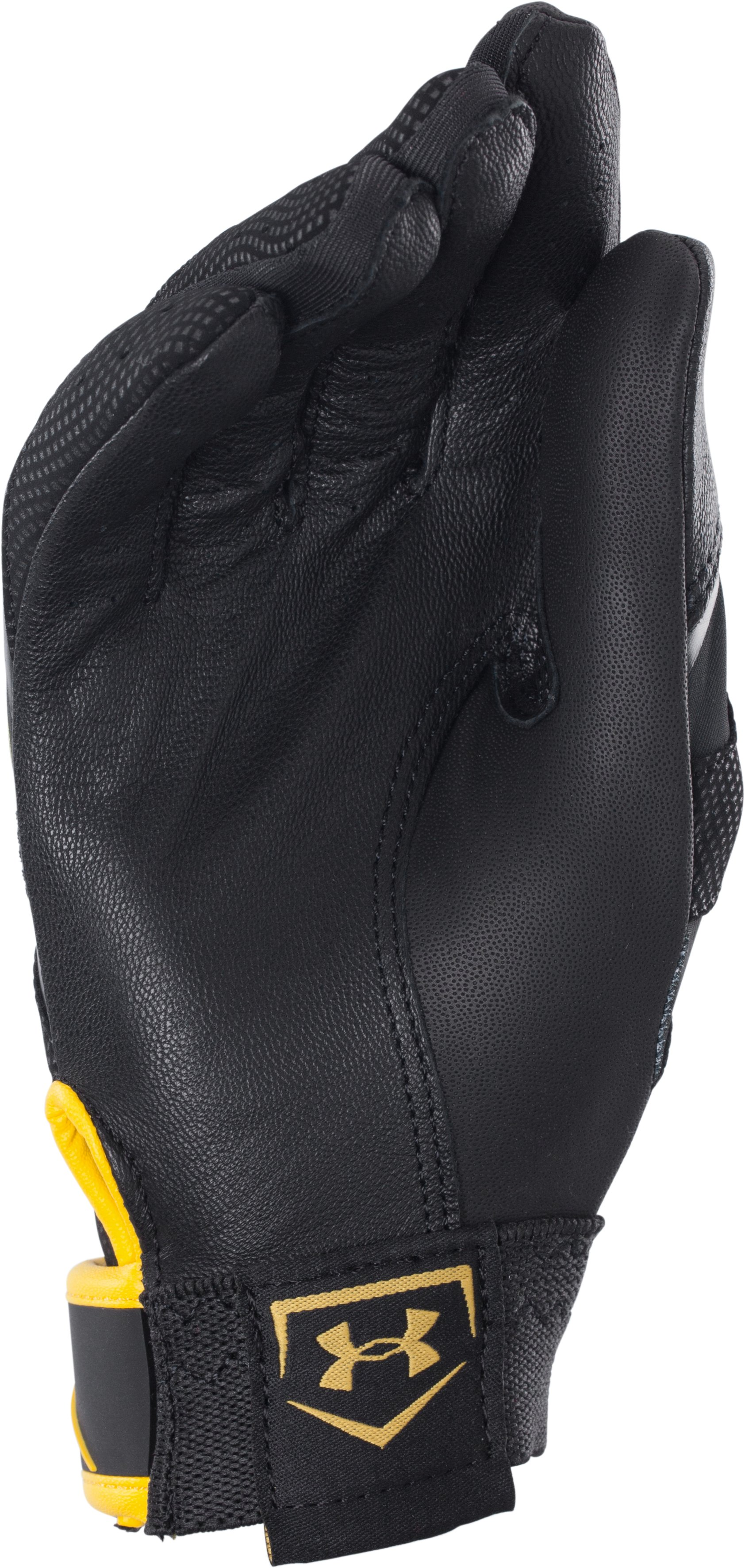 Boys' UA Batman Clean-Up Batting Gloves, Black