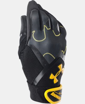 Boys' UA Batman Clean-Up Batting Gloves LIMITED TIME: FREE U.S. SHIPPING 1 Color $13.49