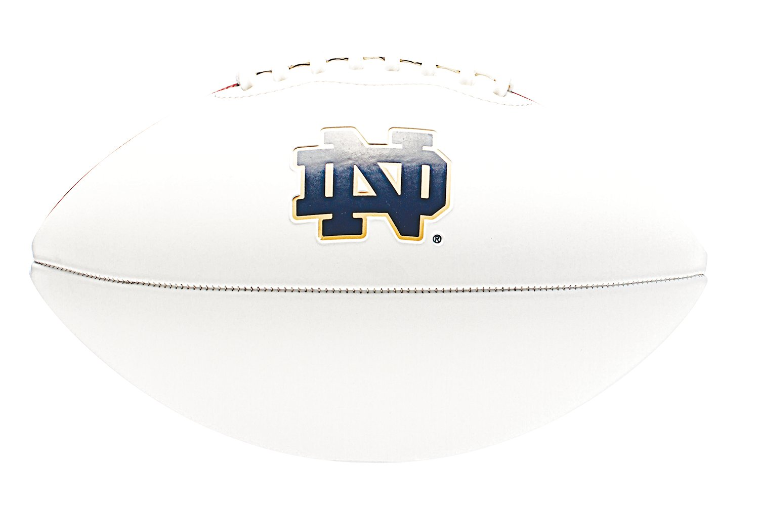 UA Notre Dame Autograph Football, White, zoomed image