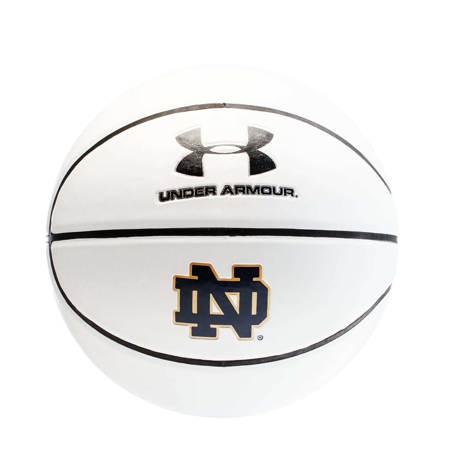 UA Notre Dame Autograph Basketball, White, undefined