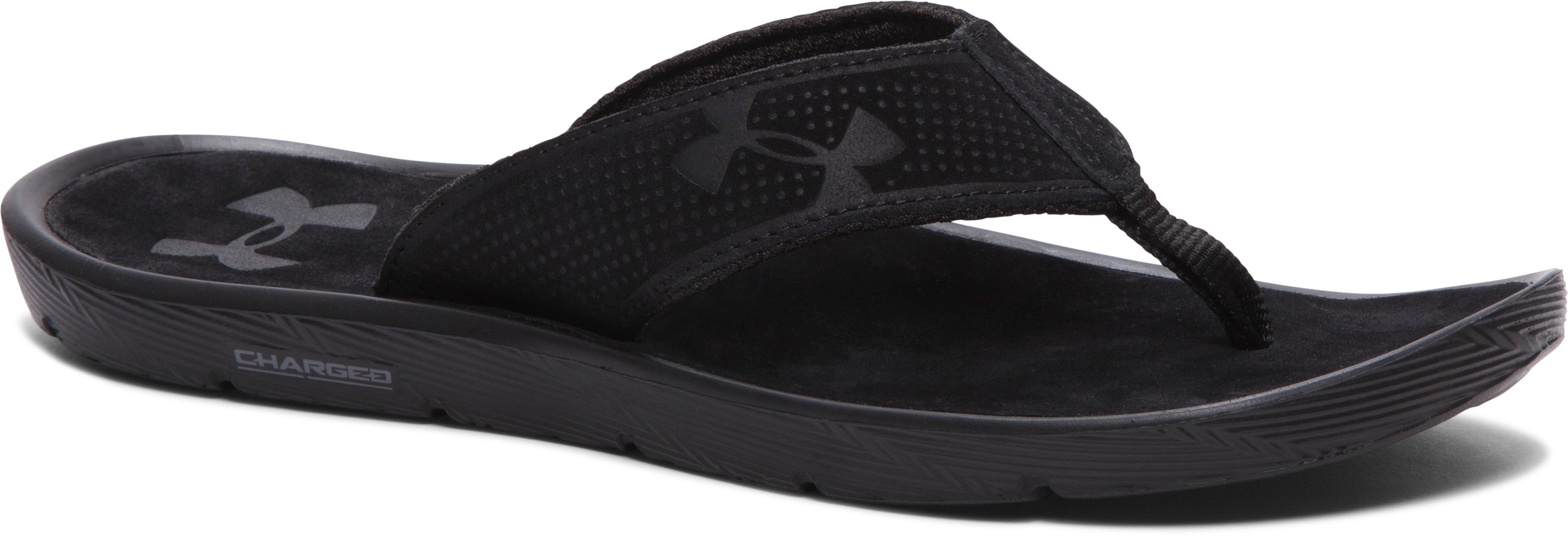 Men's UA Elite Harbor Sandals, Black