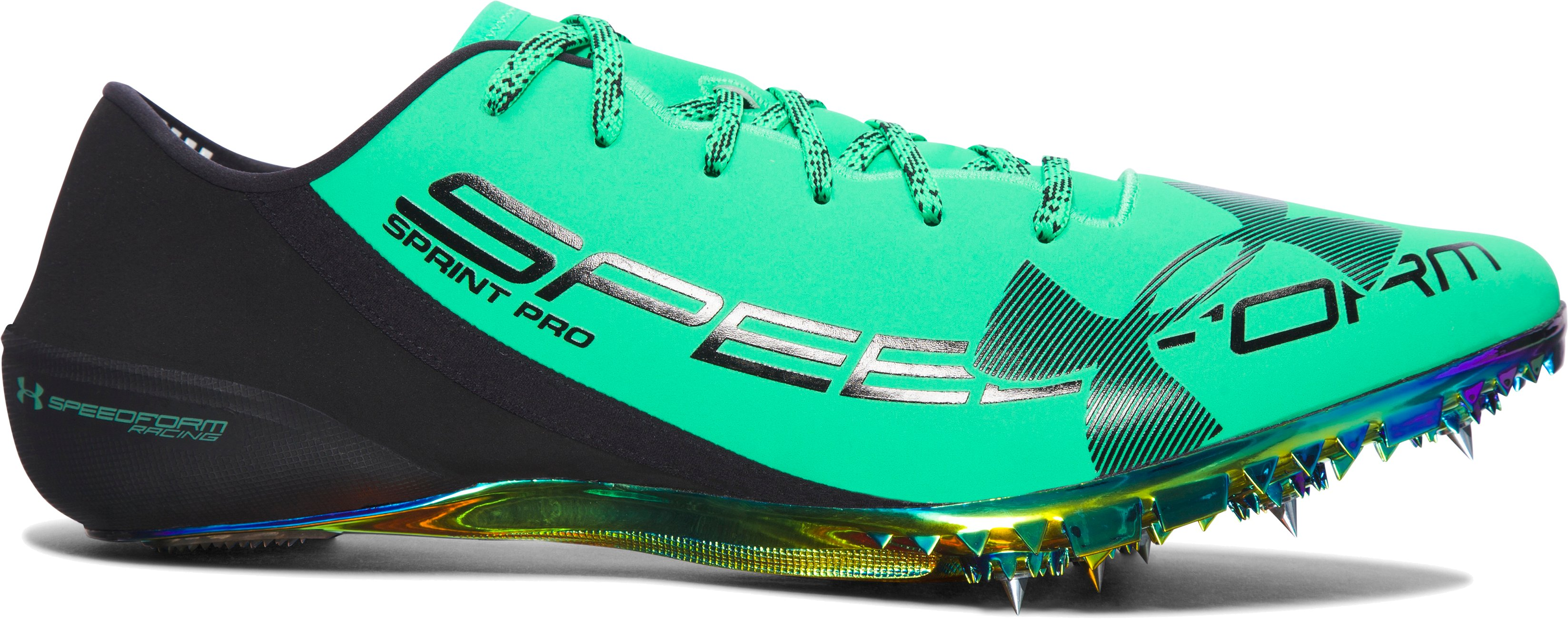 UA SpeedForm® Sprint Pro Track Spikes, VAPOR GREEN