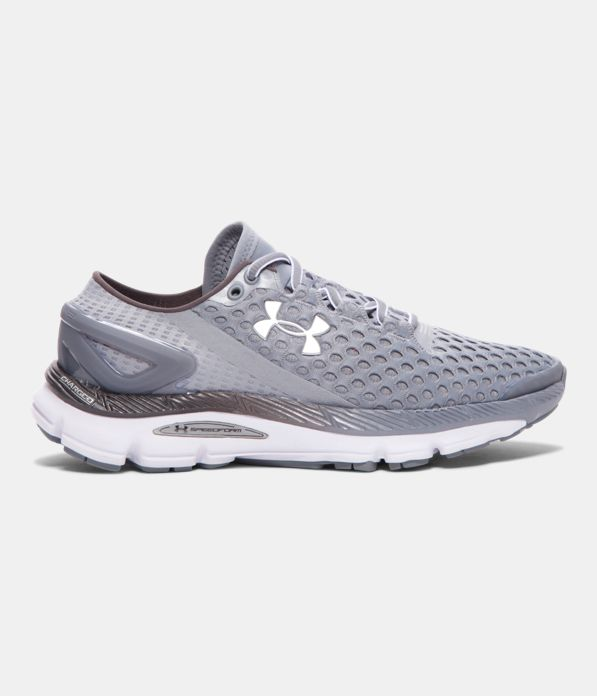 Girls Gray Under Armour Athletic Shoes Size