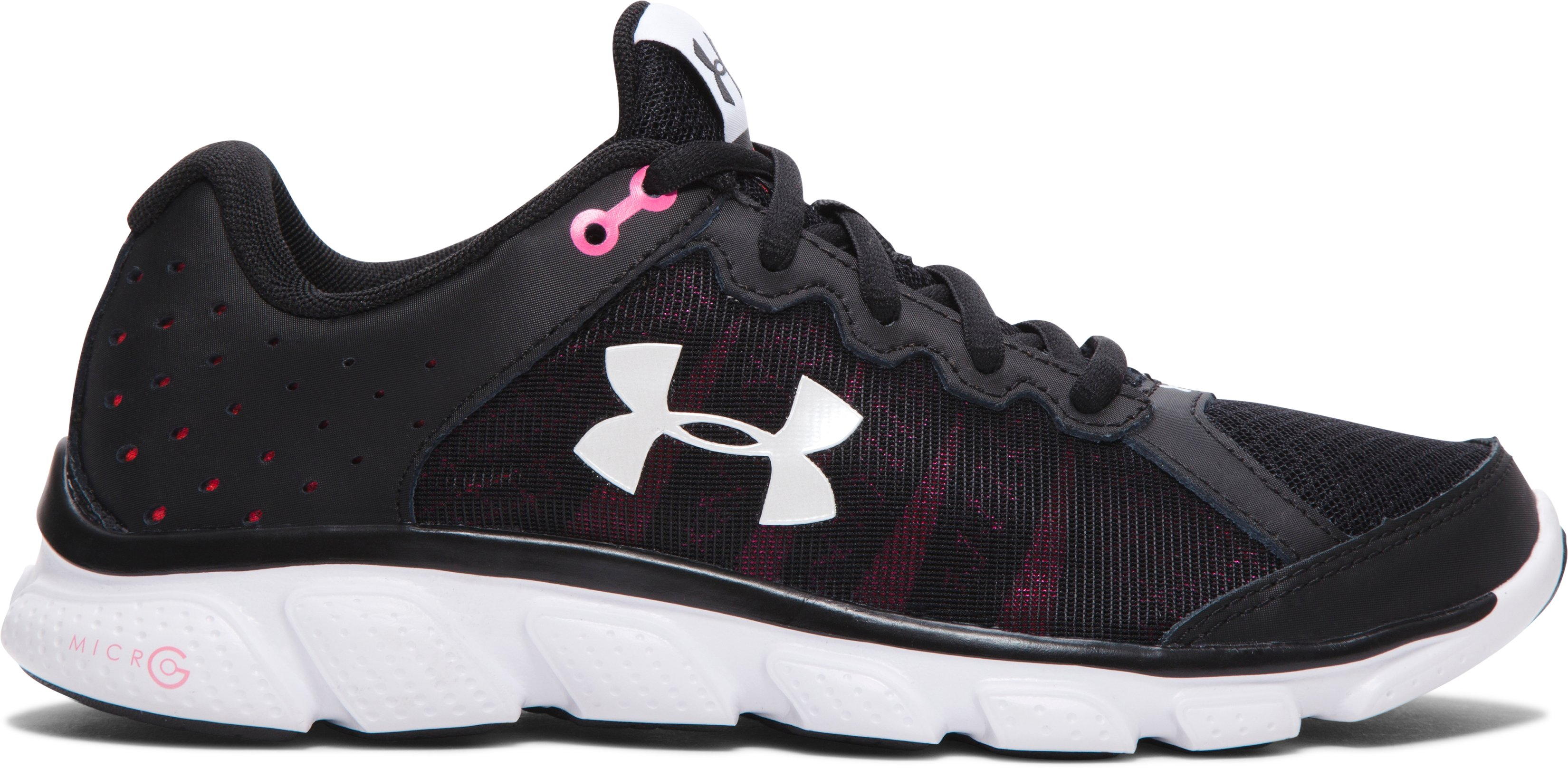 Women's UA Micro G® Assert 6 Running Shoes, Black