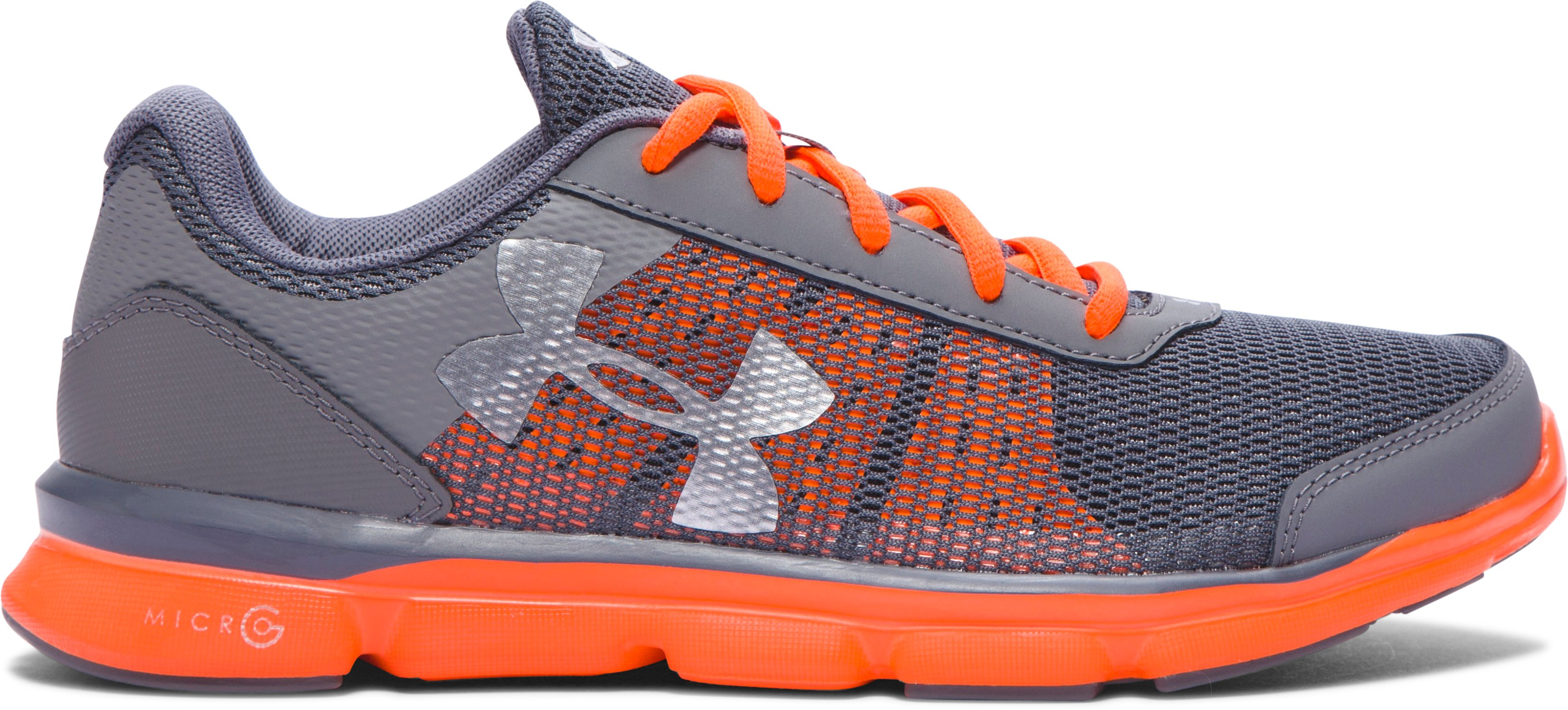 Boys' Grade School UA Micro G® Speed Swift Running Shoes, Graphite,