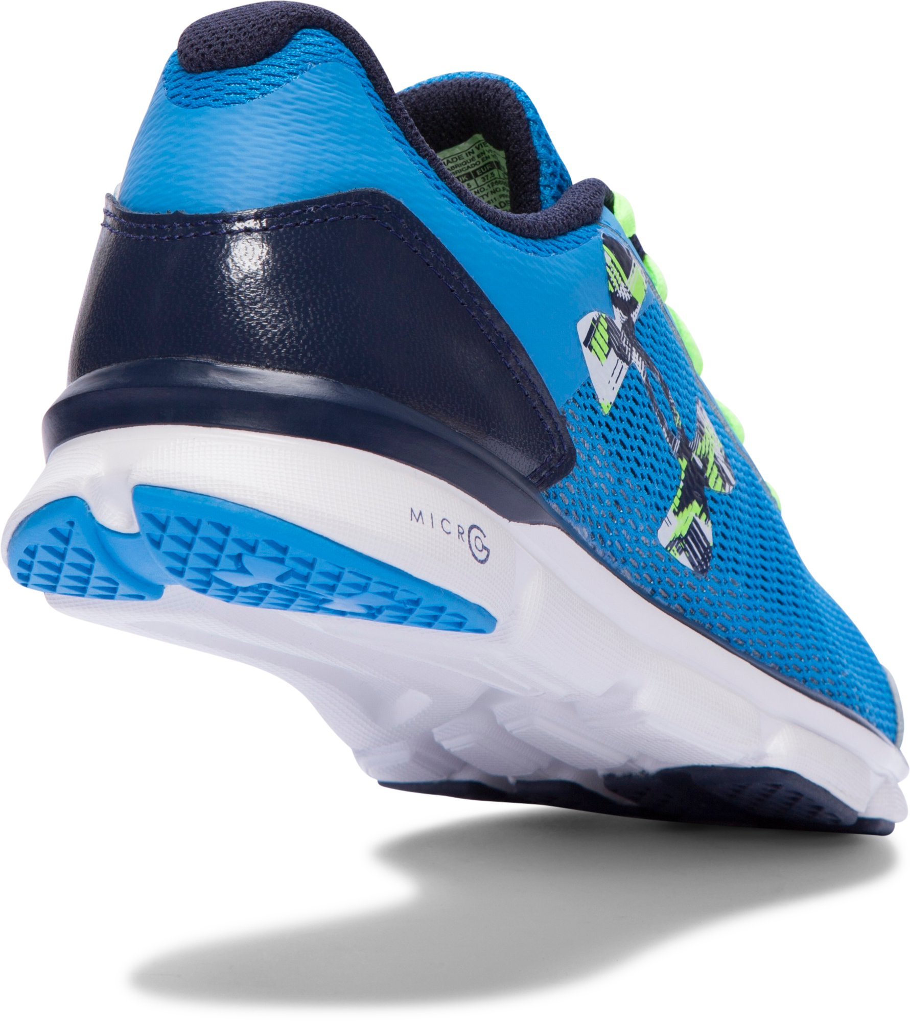 Boys' Grade School UA Micro G® Speed Swift Running Shoes, ELECTRIC BLUE