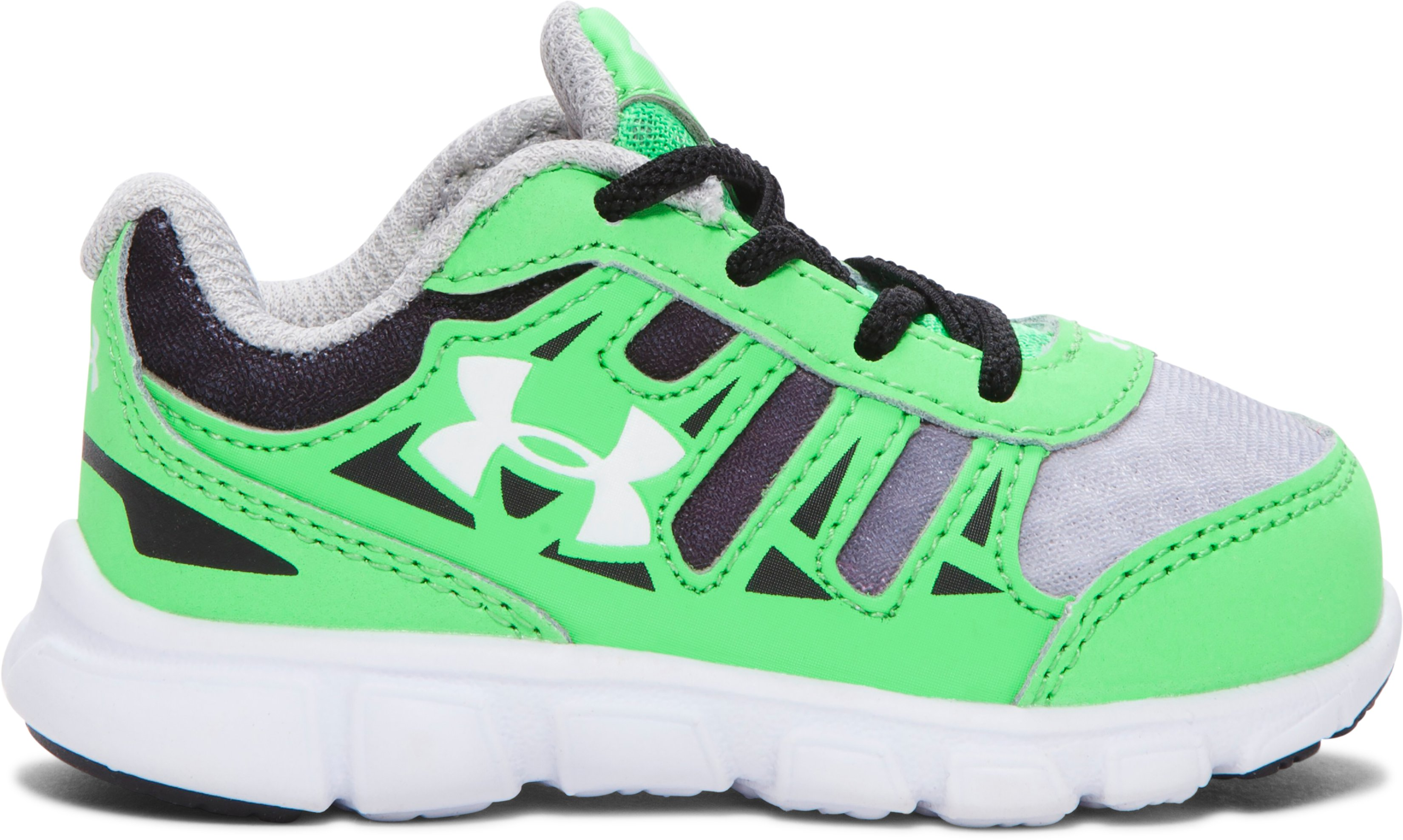 Boys' Infant UA Spine Graphic Running Shoes, LASER GREEN, zoomed image