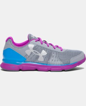New Arrival  Girls' Grade School UA Micro G® Speed Swift Running Shoes  2 Colors $69.99