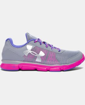 Best Seller Girls' Grade School UA Micro G® Speed Swift Running Shoes  1  Color Available $59.99