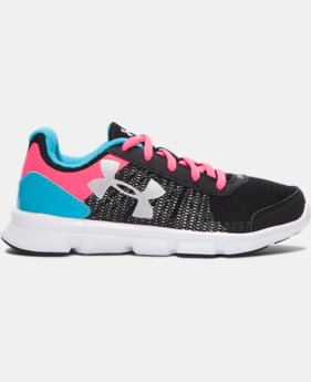 Girls' Pre-School UA Speed Swift Running Shoes  LIMITED TIME OFFER + FREE U.S. SHIPPING 1 Color $37.99