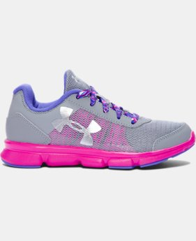 Girls' Pre-School UA Speed Swift Running Shoes  LIMITED TIME OFFER + FREE U.S. SHIPPING  $37.99