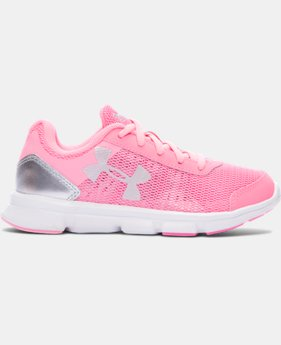 Girls' Pre-School UA Speed Swift Running Shoes   $49.99