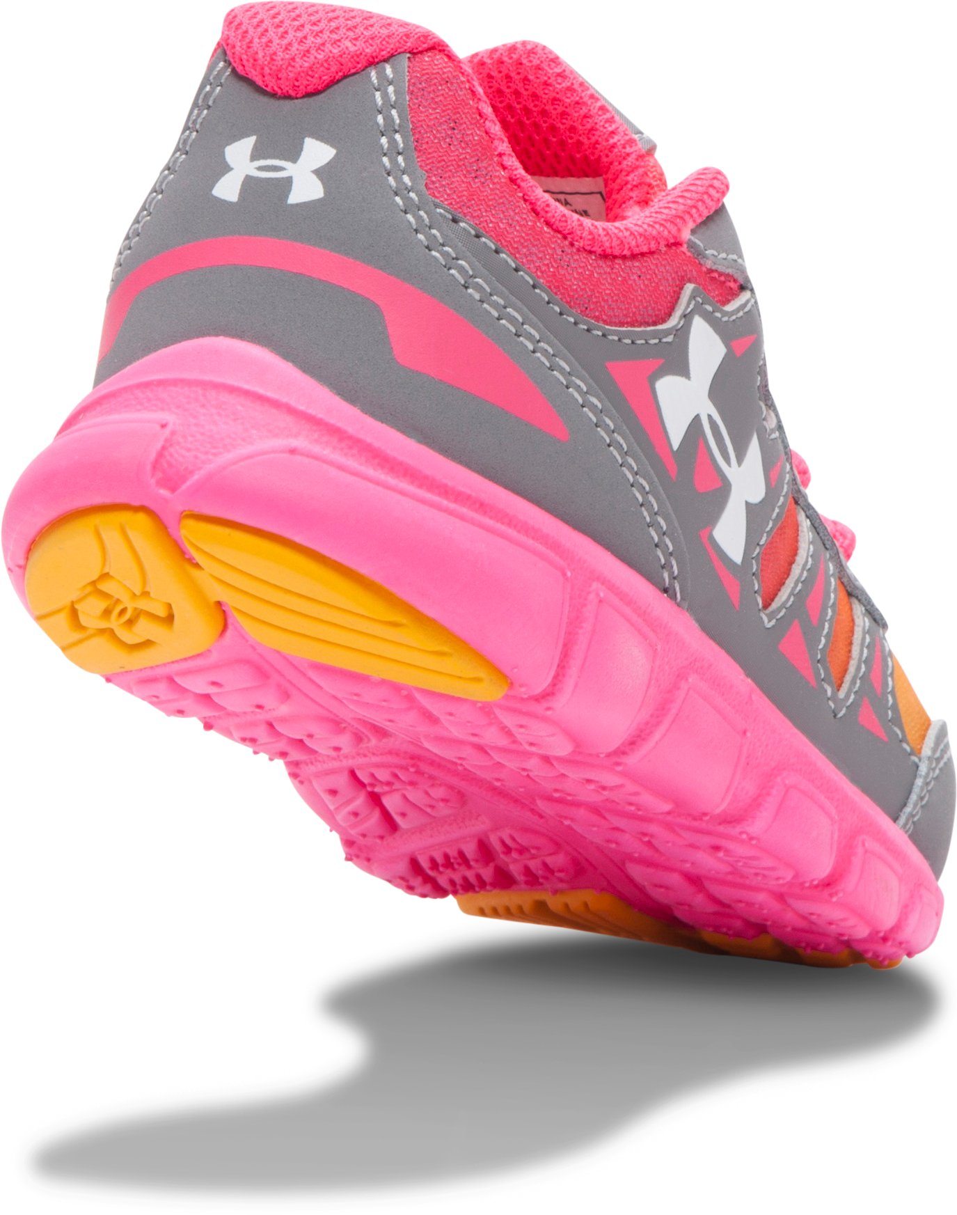 Girls' Infant UA Spine Running Shoes, Steel, undefined