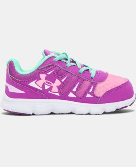 Girls' Infant UA Spine Running Shoes LIMITED TIME: FREE SHIPPING 1 Color $37.99