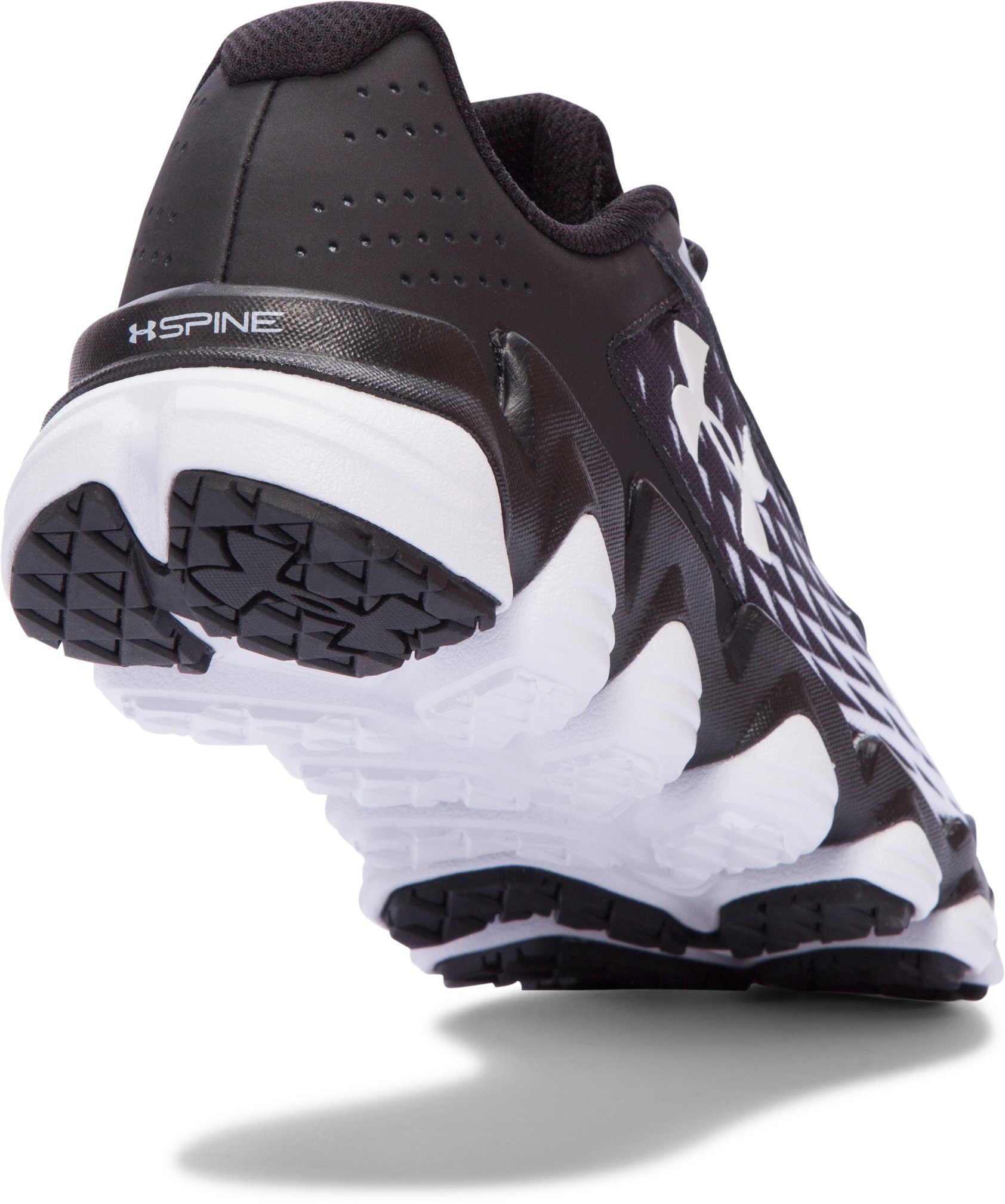 Boys' Grade School UA Micro G® Spine™ Disrupt Running Shoes, Black ,