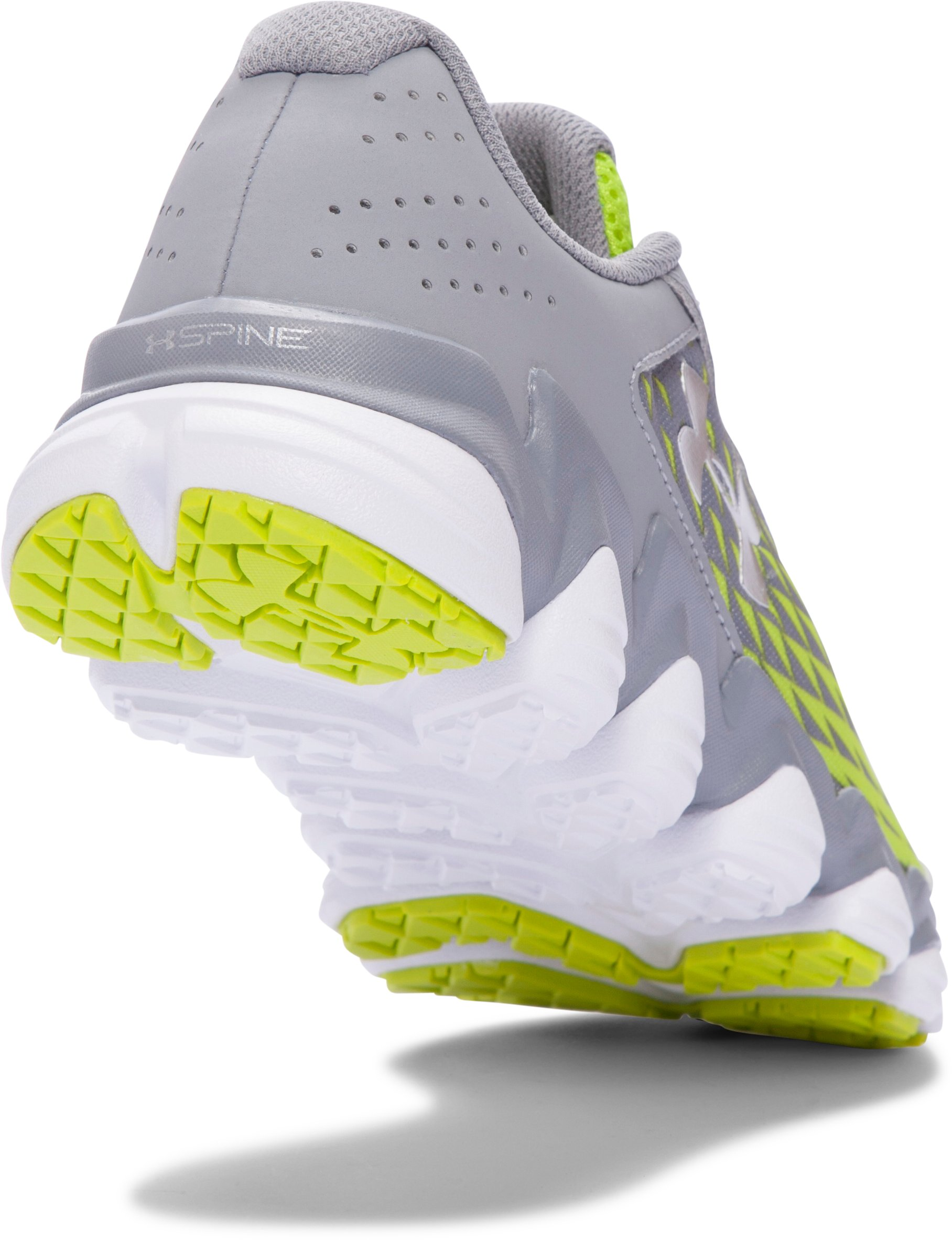 Boys' Grade School UA Micro G® Spine™ Disrupt Running Shoes, Steel