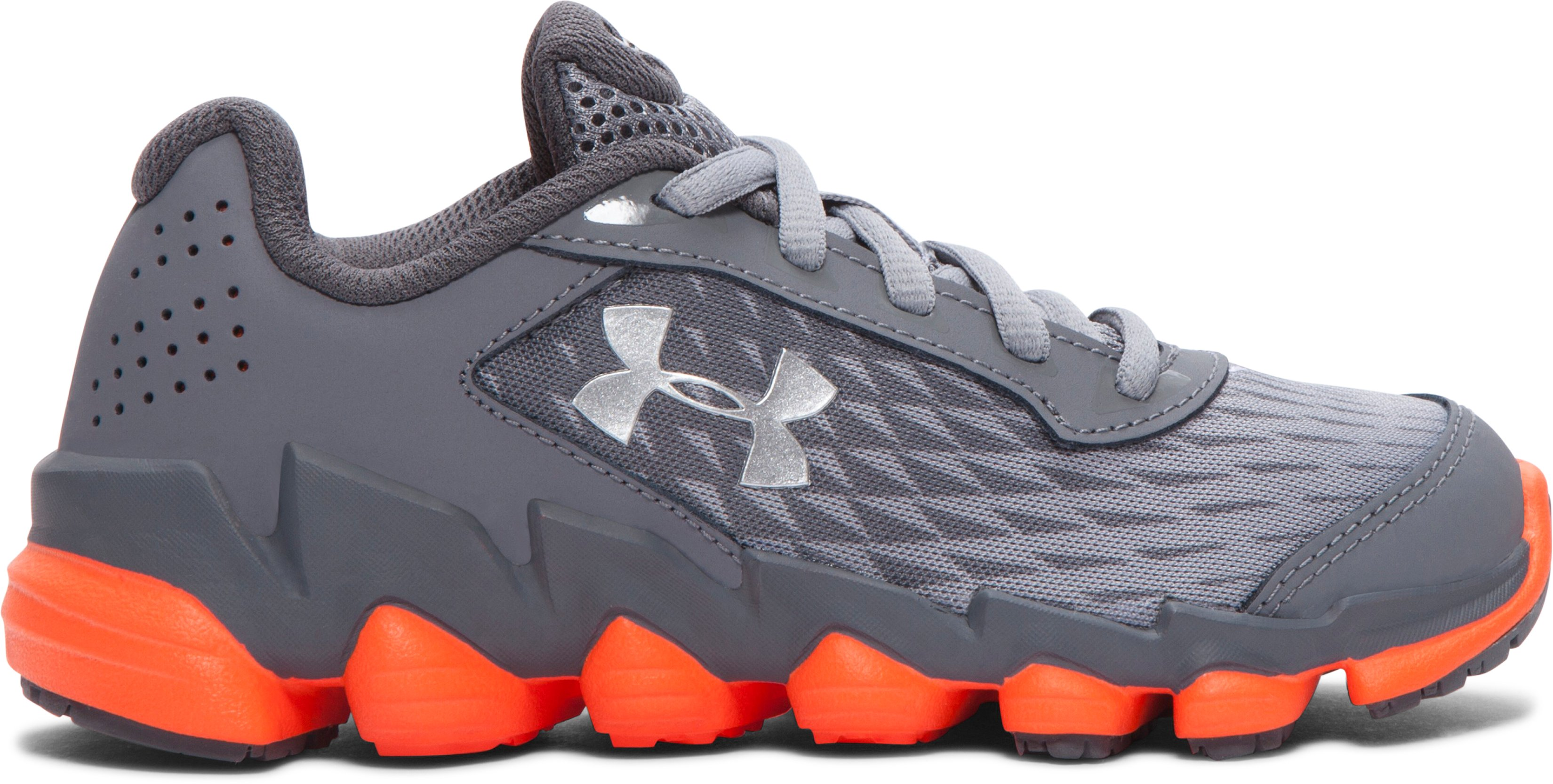 Boys' Pre-School UA Spine Disrupt Running Shoes, Steel,