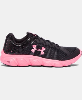 New Arrival  Girls' Grade School UA Micro G® Assert 6 Running Shoes  2 Colors $69.99