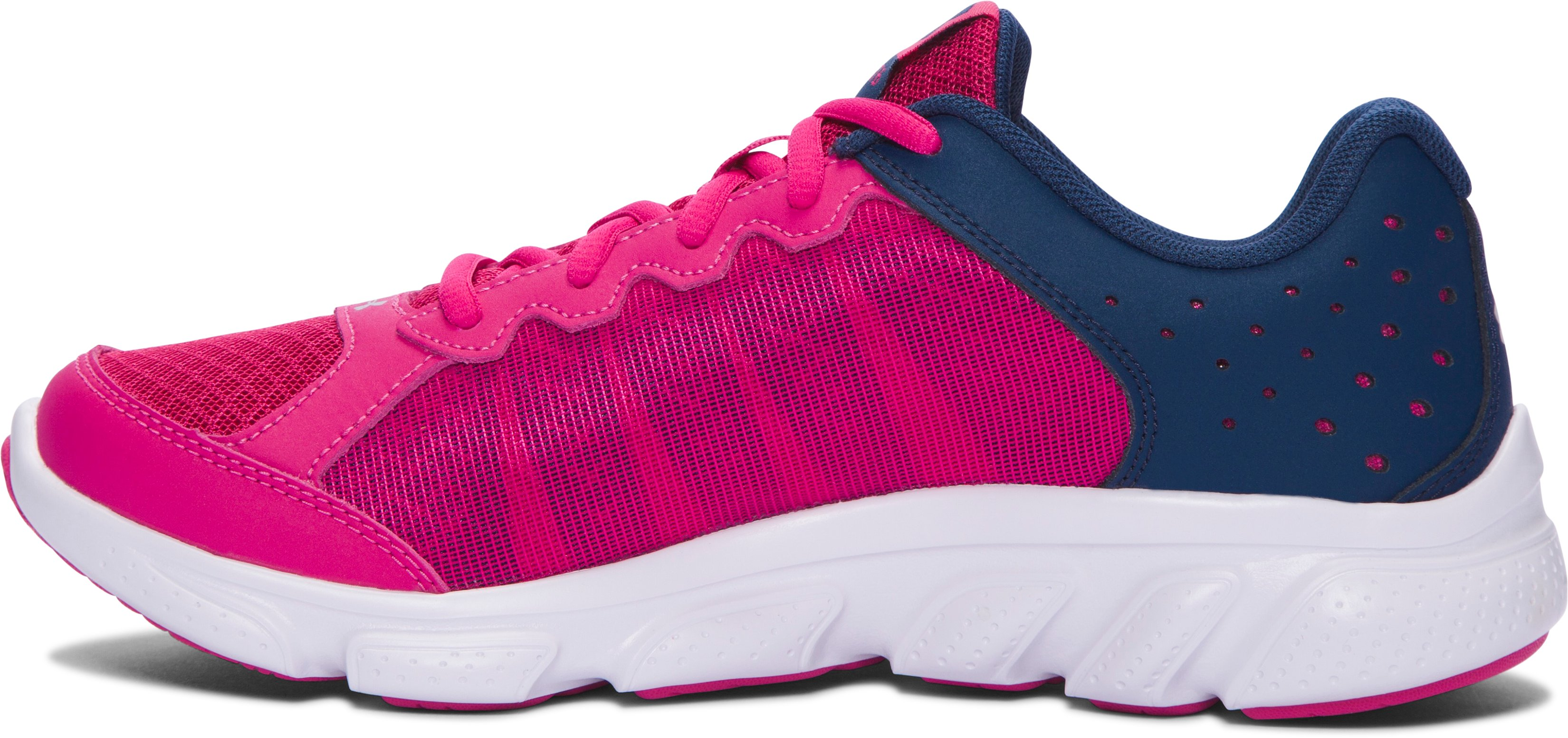 Girls' Grade School UA Micro G® Assert 6 Running Shoes, Tropic Pink,