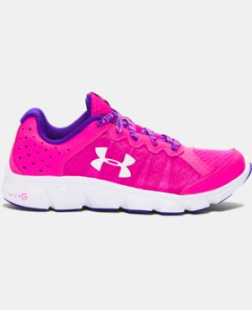 New Arrival  Girls' Grade School UA Micro G® Assert 6 Running Shoes  1 Color $69.99