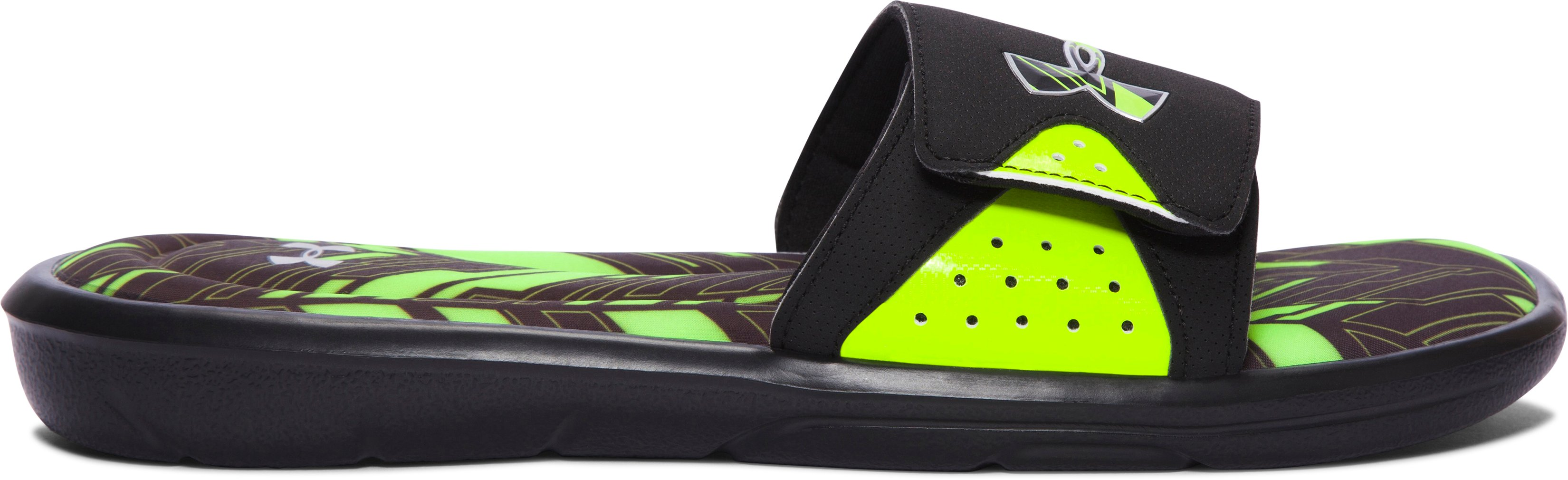Men's UA Ignite Banshee II Slides, Black